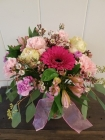 Order All pink flower arrangement